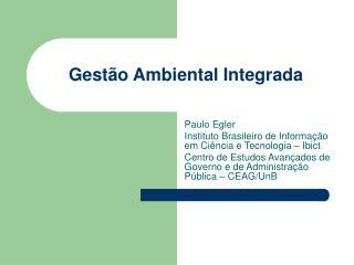 Gestão Ambiental Integrada
