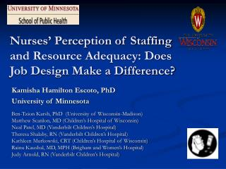 Nurses' Perception of Staffing and Resource Adequacy: Does  Job Design Make a Difference?