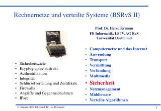 Rechnernetze und verteilte Systeme (BSRvS II)