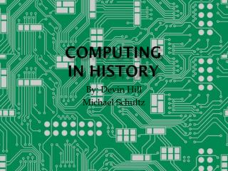 COMPUTING  IN HISTORY