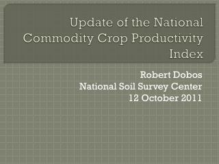 Update of the National Commodity Crop Productivity Index