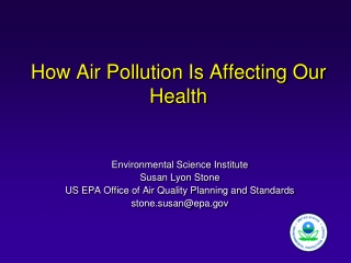 Air pollution outlooks -