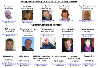 Donaghadee Sailing Club  :  2013 - 2014 Flag Officers