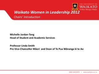 Waikato Women in Leadership 2012
