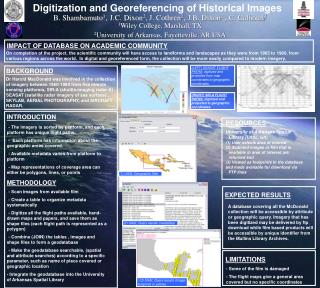 Digitization and Georeferencing of Historical Images