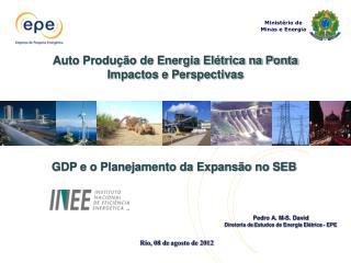 Pedro A. M-S. David Diretoria de  Estudos de Energia Elétrica - EPE