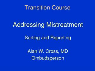 Transition Course