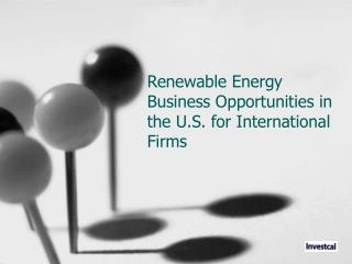 Renewable Energy Business Opportunities in the U.S. for International  Firms