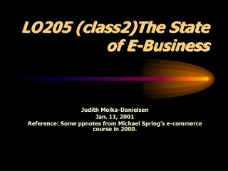 LO205 (class2)The State of E-Business