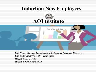 Induction New Employees   AOI Institute