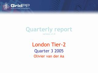 Quarterly report  version v1.0