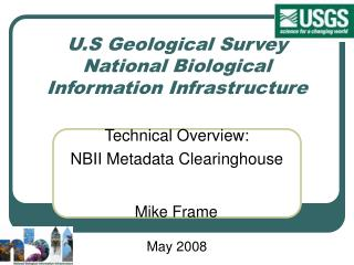 U.S Geological Survey  National Biological Information Infrastructure
