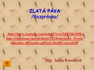 Mgr. Janka Koreňová