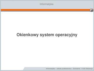 Okienkowy system operacyjny