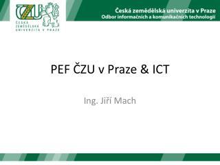 PEF ČZU v Praze  &  ICT