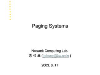 Paging Systems