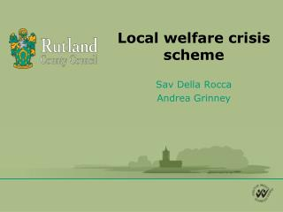 Local welfare crisis scheme