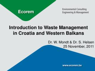 Introduction to Waste Management in Croatia and Western Balkans