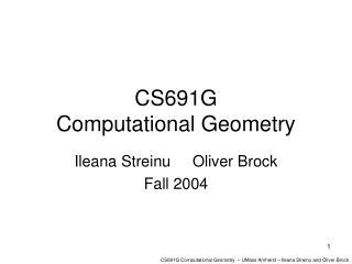 CS691G  Computational Geometry