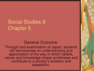 Social Studies 8 Chapter 5