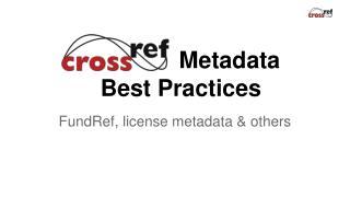 Metadata  Best Practices