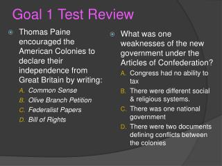 Goal 1 Test Review