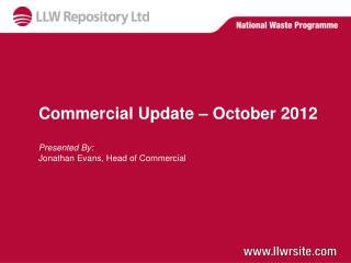 Commercial Update � October 2012