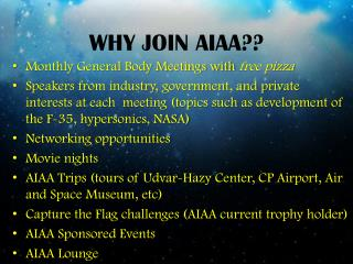 WHY JOIN AIAA??