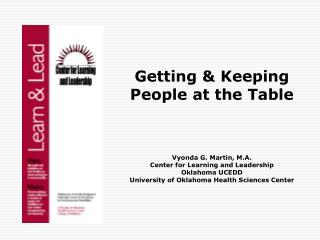 Getting & Keeping People at the Table