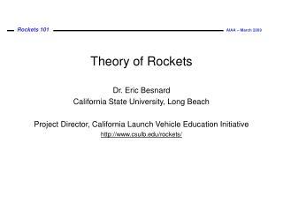 Theory of Rockets