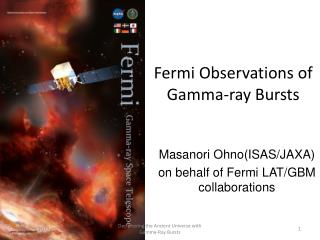 Fermi Observations of  Gamma-ray Bursts
