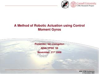 A Method of Robotic Actuation using Control Moment Gyros
