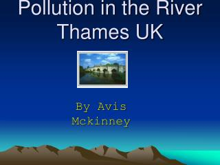 Pollution in the River Thames UK