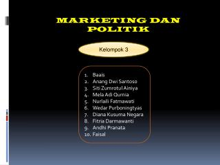 MARKETING DAN POLITIK