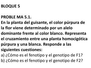 BLOQUE 5  PROBLE MA 5.1.