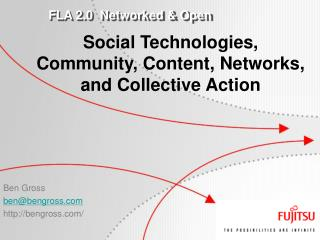 Social Technologies, Community, Content, Networks, and Collective Action
