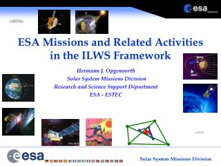 ESA Missions and Related Activities  in the ILWS Framework
