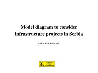 Model diagram to consider infrastructure projects in Serbia
