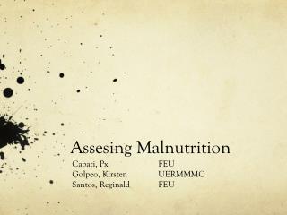 Assesing  Malnutrition