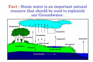 The final site design should maximize on-site storage, infiltration & evaporation of storm water.