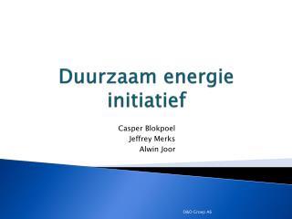 Duurzaam energie initiatief