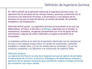 Definición de Ingeniería Química