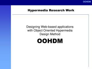 Hypermedia Research Work