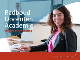Inhoud en opbouw van de educatieve  master Saskia van Boven, opleidingscoördinator septembercohort