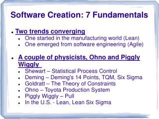 Software Creation: 7 Fundamentals