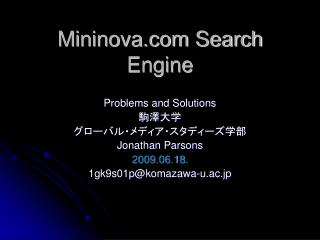 Mininova Search Engine