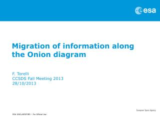 Migration of information along the Onion diagram