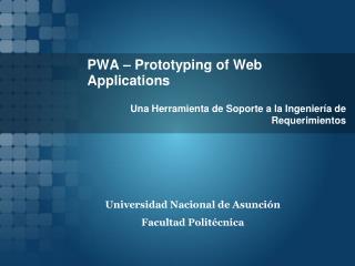 PWA – Prototyping of Web Applications