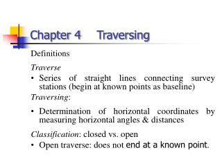 Chapter 4 Traversing
