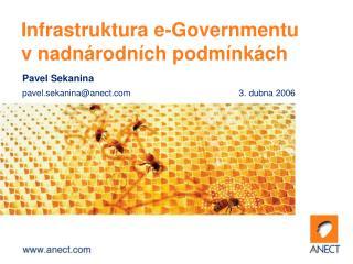 Infrastruktura e-Governmentu v nadnárodních podmínkách